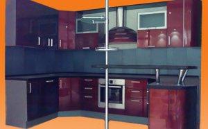 Металлическая мебель в интерьере кухни